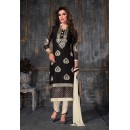 Party Wear Black & Off White Salwar Suit - FA378-1606