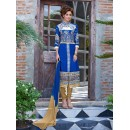 Party Wear Blue & Cream Salwar Suit - FA379-1402