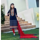 Party Wear Blue & Red Salwar Suit - FA379-1410