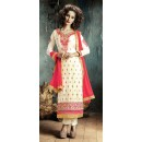 Party Wear Off White & Cream Salwar Suit - FA380-201