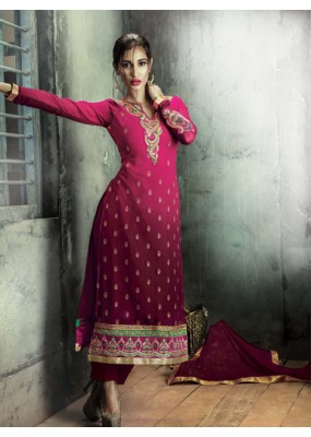 Party Wear Dark Pink Georgette Salwar Suit - FA380-206