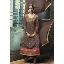 Party Wear Brown Georgette Salwar Suit - FA380-209