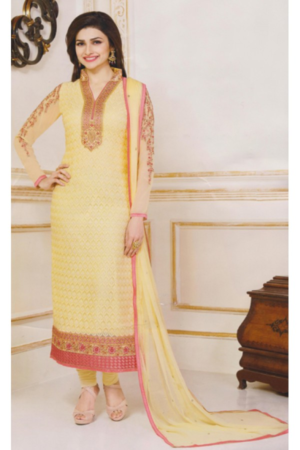 Party Wear Yellow Georgette Salwar Suit - FA381-3305