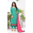Party Wear Green Georgette Salwar Suit - FA382-12202