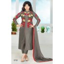 Party Wear Grey Cotton Salwar Suit - FA386-012
