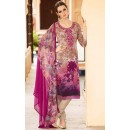 Ethnic Wear Cream & Pink Crepe Salwar Suit  - FA395-7006
