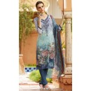 Ethnic Wear Blue Crepe Churidar Suit  - FA395-7010