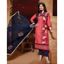 Ayesha Takia In Pink & Blue Cotton Salwar Suit  - FA396-07