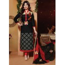 Ayesha Takia In Black & Red Cotton Churidar Suit  - FA396-08