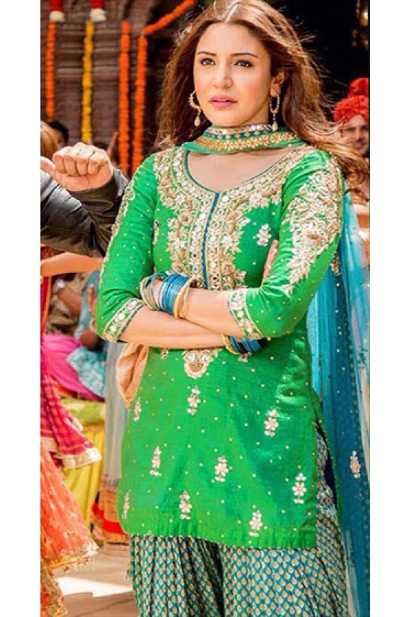 Bollywood Replica - Anushka Sharma In Green Patiyala Suit  - FA397-007A