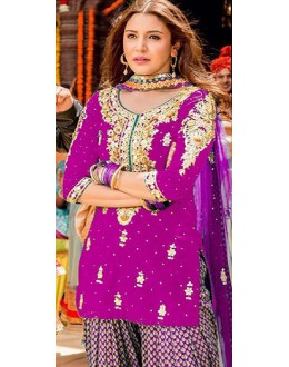 Bollywood Replica - Anushka Sharma In Purple Patiyala Suit  - FA397-007B