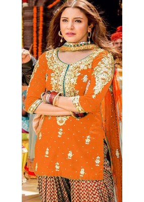 Bollywood Replica - Anushka Sharma In Orange Patiyala Suit  - FA397-007C