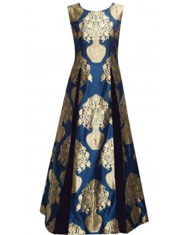 Bollywood Replica - Party Wear Dark Blue Gown - FA397-01