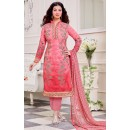 Ayesha Takiya In Peach Cotton Salwar Suit  - FA414-29