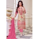 Ayesha Takiya In Light Pink Cotton Salwar Suit  - FA414-33