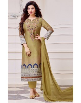 Ayesha Takiya In Yellow Cotton Salwar Suit  - FA414-35