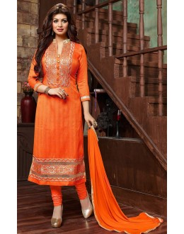 Ayesha Takiya In Orange Bhagalpuri Salwar Suit - FA419-20181