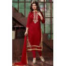 Ayesha Takiya In Red Bhagalpuri Salwar Suit - FA419-20183