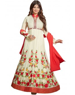 Ayesha Takiya In Off White & Red Anarkali Suit  - FA420-20272