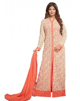 Ayesha Takiya In Orange Anarkali Suit  - FA420-20276