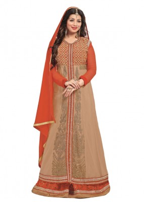 Ethnic Wear Orange Georgette Anarkali Suit  - FA422-11659