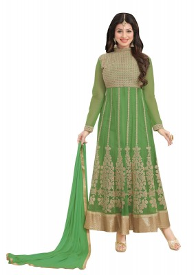 Festival Wear Green Georgette Anarkali Suit  - FA422-11662