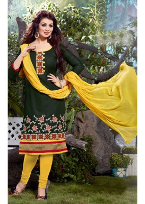 Casual Wear Green & Yellow Salwar Suit - FD167-06