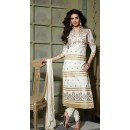 Casual Wear Off White & Golden Salwar Suit - FD169-16