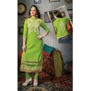 Party Wear Green Cotton Salwar Suit - FD169-33