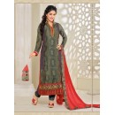Party Wear Grey Georgette Churidar Suit - FA357-81007