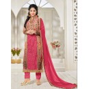 Party Wear Peach Georgette Churidar Suit - FA357-81003
