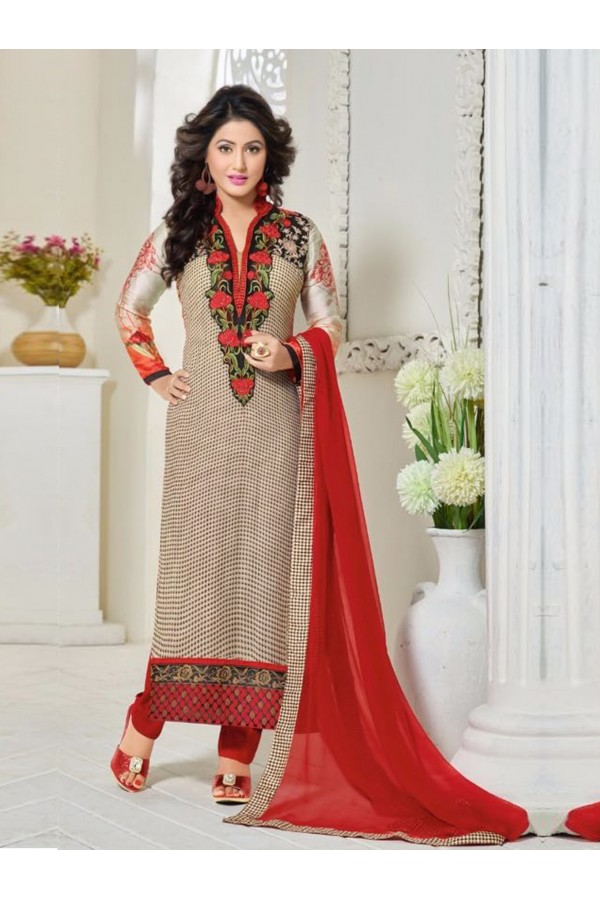 Party Wear White Georgette Churidar Suit - FA357-81011
