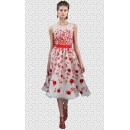 Party Wear Readymade White Western Wear Dress - Fk109-7001