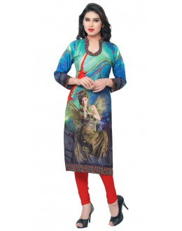 Casual Wear Multicolour Kurti - FK114-102