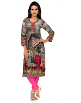 Party Wear Multicolour Kurti - FK114-105