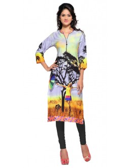 Party Wear Multicolour Kurti - FK114-106