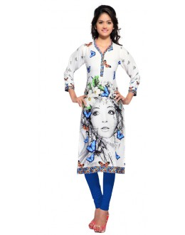 Party Wear Multicolour Kurti - FK114-107