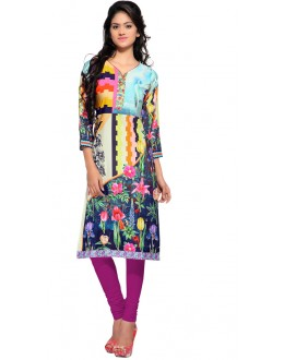 Party Wear Multicolour Kurti - FK114-108