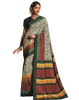 Casual Wear Multicolour Art Silk Saree  - RKVIKI9353