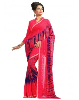 Festival Wear Pink Georgette Saree  - RKAM6550