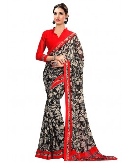 Party Wear Multi-Colour Georgette Saree  - RKAM6617