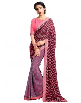 Ethnic Wear Multi-Colour Georgette Saree  - RKAM6618