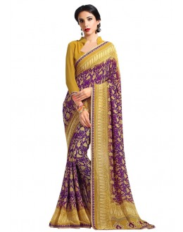 Festival Wear Multi-Colour Georgette Saree  - RKAM6620