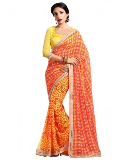 Ethnic Wear Multi-Colour Georgette Saree  - RKAM6630