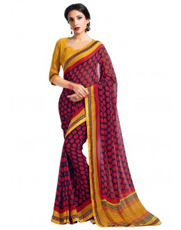Ethnic Wear Multi-Colour Georgette Saree  - RKAM6632