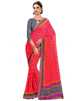 Casual Wear Multi-Colour Georgette Saree  - RKAM6633
