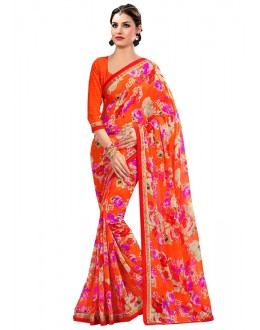 Ethnic Wear Multi-Colour Georgette Saree  - RKAM6637
