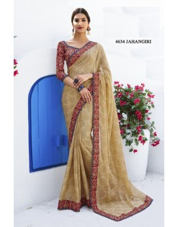 Ethnic Wear Beige Georgette Saree  - RKLP4634