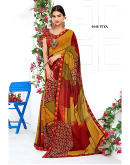 Multi-Colour Satin Printed Saree  - RKLP4648