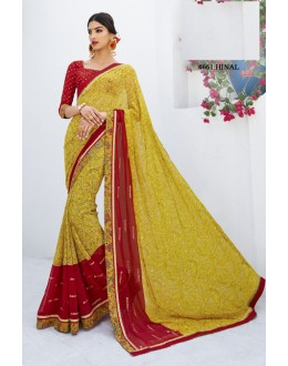 Ethnic Wear Multi-Colour Georgette Saree  - RKLP4661